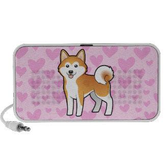 Akita Inu / Shiba Inu Love (add a pattern) Travel Speaker