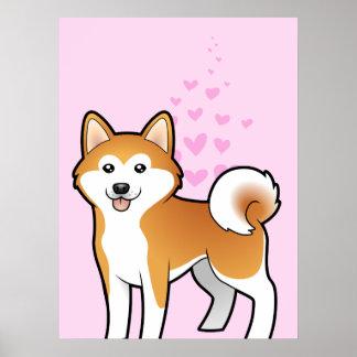 Akita Inu / Shiba Inu Love Poster