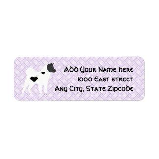 Akita Lavendar Weave Return Address Label