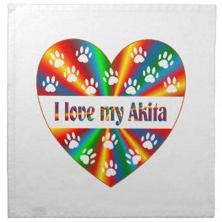 Akita Love Napkin