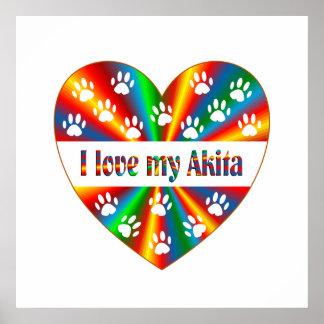 Akita Love Poster