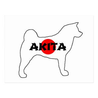 akita name flag silo postcard