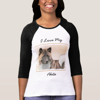 Akita Painting - Cute Original Dog Art T-Shirt
