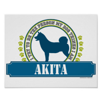 Akita Poster
