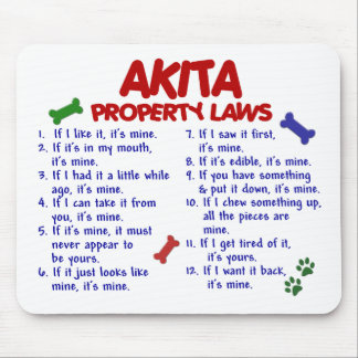 AKITA Property Laws 2 Mouse Pads