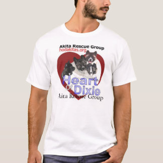 Akita Rescue - Heart of Dixie T-Shirt