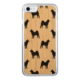 Akita Silhouettes Pattern Carved iPhone 7 Case