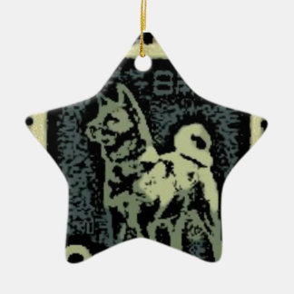 Akita Stamp Ceramic Ornament