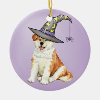 Akita Witch Ceramic Ornament