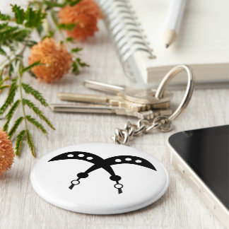 AKOFENA | Adinkra Symbol of Courage and Valor Key Ring