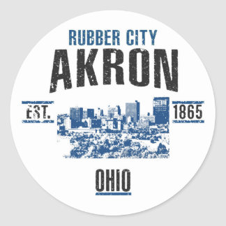 Akron Classic Round Sticker