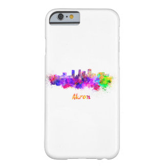 Akron OH skyline in watercolor Barely There iPhone 6 Case