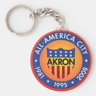 Akron Ohio All America City Keychain.