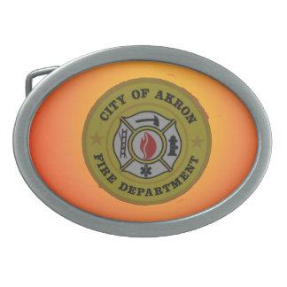 Akron Ohio Fire Department Belt Buckle.