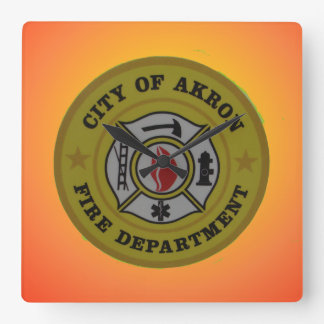 Akron Ohio Fire Department Clock.