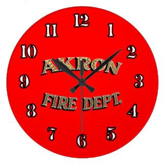 Akron Ohio Fire Department Clock. Clocks
