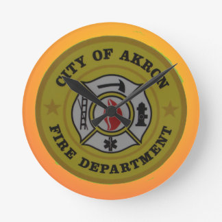 Akron Ohio Fire Department Clock. Wallclock