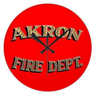 Akron Ohio Fire Department Clock. Wallclocks