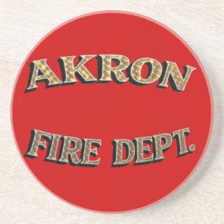 Akron Ohio Fire Department Coaster. Beverage Coasters