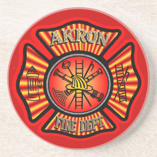 Akron Ohio Fire Department Coaster. Drink Coaster