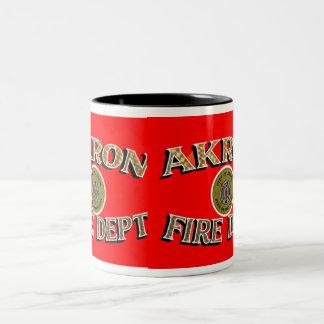 Akron Ohio Fire Department Mug. Two-Tone Mug