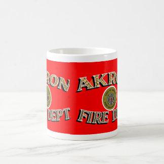 Akron Ohio Fire Department Mug. Basic White Mug