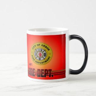 Akron Ohio Fire Department Mug. Magic Mug