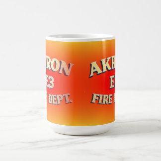Akron Ohio Fire Department Mugs. Basic White Mug