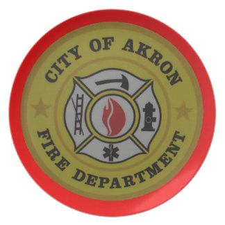 Akron Ohio Fire Department Plate. Plates