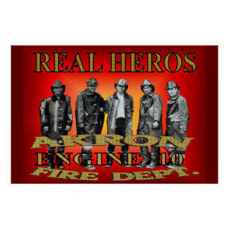 Akron Ohio Fire Department Poster. Poster