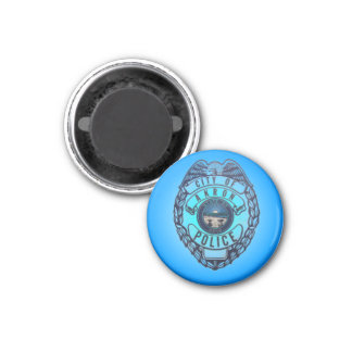 Akron Ohio Police Department Magnet. 1 Inch Round Magnet