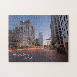 Akron, Ohio Puzzle with Gift Box
