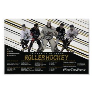 Akron Roller Hockey Schedule Poster