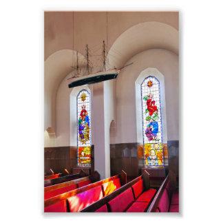 Akureyri Church Interior, Iceland Photo Print