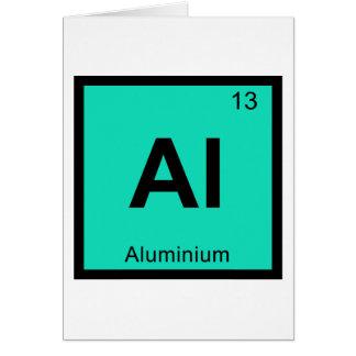 Al - Aluminium Chemistry Periodic Table Symbol Greeting Card