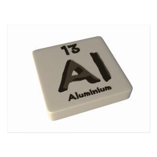 Al Aluminium Postcard