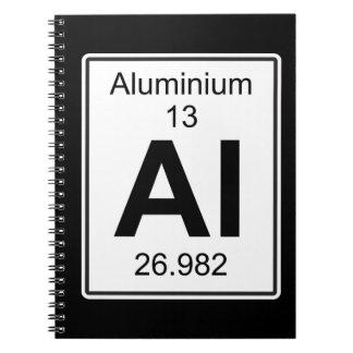 Al - Aluminium Spiral Notebook