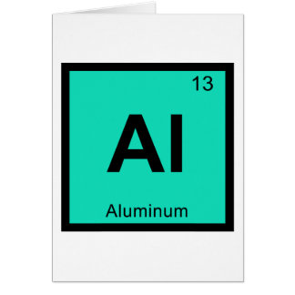 Al - Aluminum Chemistry Periodic Table Symbol Greeting Card