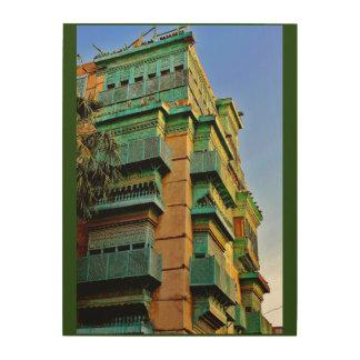 Al Balad Building Wood Canvases