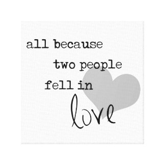 al because two people fell in love modern simple canvas prints