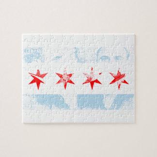Al Capone Chicago Flag Jigsaw Puzzle
