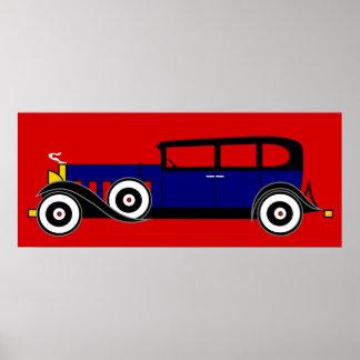 Al Capone's Cadillac 16 V - Roaring 20's Poster
