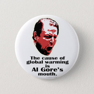 Al Gore Global Warming Black 6 Cm Round Badge