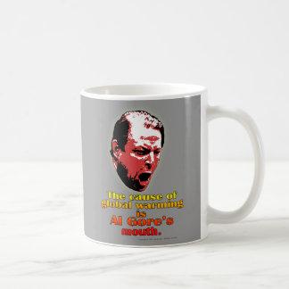Al Gore Global Warming Red - Yellow Basic White Mug