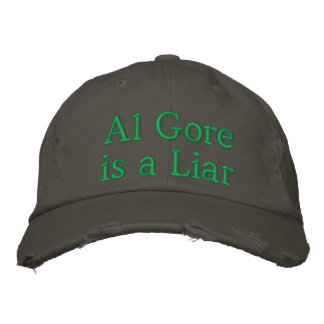 Al Gore is a LIAR Embroidered Hat
