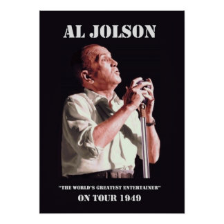 Al Jolson on Tour Poster