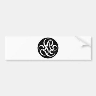 AL-LA-Monogram Bumper Sticker