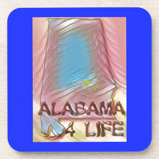 "Alabama ""4 Life"" Digital State Map Painting Coaster"