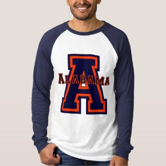 Alabama 'A' Blue and Orange T-Shirt