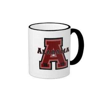 Alabama 'A' Red Ringer Mug